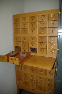 Vintage Library Card Catalog Cabinets for Sale- a couple available ...