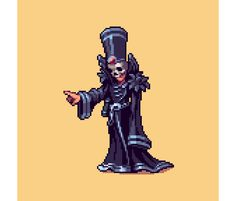 Dark Mage #pixelart I designed for @NibblesDragon's new tactical game #gamedev #indiedev https://t.co/QHUO5SaMq0