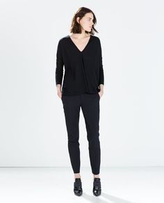 ZARA - SALE - T-SHIRT WITH SIDE OPENINGS