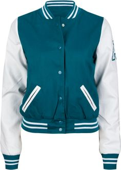 ASHLEY Faux Leather Sleeve Womens Varsity Jacket 207492352 | Jackets | Tillys.com