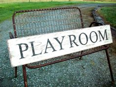 PLAYROOM Signs / Rustic Playroom Wall Decor by TheCrickettyCottage