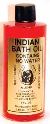 Indian Bath Oil for Luck and Wealth 4oz by Raven Blackwood. $7.75. This powerful oil is formulated to be a powerful addition to your ritual bathing. Sprinkle it in your bath waters to help improve your luck and attract wealth. It can also be a powerful aid in gambling, or in winning over the one you love. This 4 oz bottle of oil comes with a free bar of Good Luck Soap! Both are for external use only.