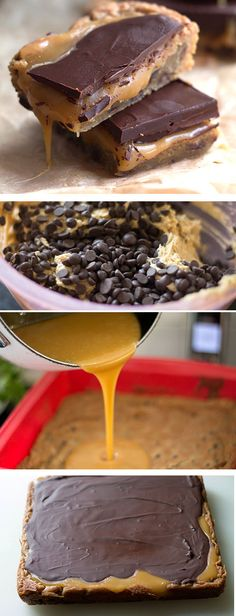 Salted Caramel & Dark Chocolate Blondies - Erren's Kitchen - This ...