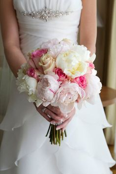 bouquet peonies and roses