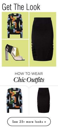 """Get the Look: Sci-Fi Chic"" by farfetch on Polyvore featuring Pollini, Peter Pilotto and Dion Lee"