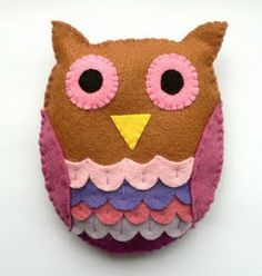 手工教程 Handcraft Tutorials: Felt: Owl
