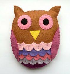 手工教程 Handcraft Tutorials: Felt: Owl