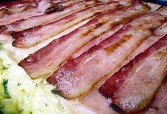 Fordított tejszínes tészta recept képpel. Hozzávalók és az elkészítés részletes leírása. A fordított tejszínes tészta elkészítési ideje: 82 perc Tuna, Bacon, Fish, Meat, Breakfast, Morning Coffee, Pisces, Pork Belly, Atlantic Bluefin Tuna