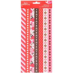 American Crafts My Funny Valentine Washi Tape Strip Sheets 3/Pkg-