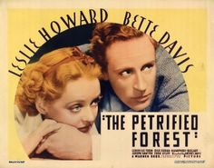 PETRIFIED FOREST, THE (1935 WB) Title lobby card Leslie Howard, Bette Davis RARE
