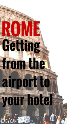 Rome has several options to get from the Leonardo da Vinci Fiumicino Airport (FCO) to your hotel without needing a car seat.  Family Travel   Travel with infant, baby or toddler   Rome, Italy   transportation #familytravel #travelwithbaby #rome #italy