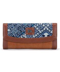 Love this Blue Diamond Leather Iris Flap Wallet on #zulily! #zulilyfinds