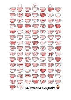 100 cups of tea and a cupcake