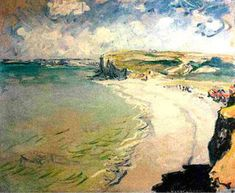 would like to see the Beach in Pourville (Claude Monet)