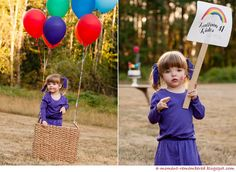 Would be cute with a hot air balloon!! Cute photoshoot idea.