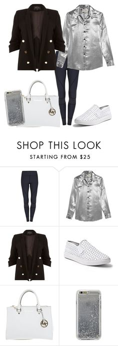"""""""Style #4"""" by ary-polyvore-outfits ❤ liked on Polyvore featuring Yves Saint Laurent, River Island, Steve Madden, Michael Kors and Agent 18"""