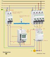 Esquemas eléctricos: Iluminación trifásica