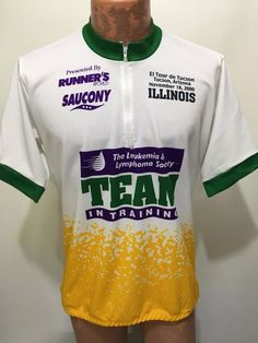 Pyro Apparel XL Illinois Leukemia Lymphoma Team in Training Bike Jersey 1 2  Zip  PyroApparel ad2777be8
