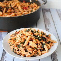 Veggie-Packed Tuscan Chicken Pasta -  beckysbestbites