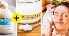 Cum sa scapi de riduri cu o solutie simpla si complet naturala Baking Soda Coconut Oil, Beverages, Drinks, Canning, Beauty, Food, Zodiac, Coconut Oil, Flask Garter