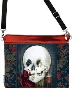 all is vanity printed tablet/ipad/shoulder bag red Tarot, All Is Vanity, Diy Laptop, Illustrations, Ipad Tablet, Memento Mori, Teal, Prints, Bags