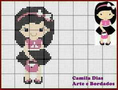 Cross Stitch Family, Small Cross Stitch, Cross Stitch Designs, Cross Stitch Patterns, Stitch Doll, Loom Patterns, Plastic Canvas Patterns, Baby Girl Dresses, Diy Projects To Try