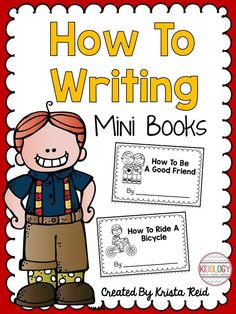 Pack of how to writing mini books for beginning writers. Includes templates for 15 mini books plus a make your own book.  Great for kindergarten, grade one or grade two! Perfect for literacy centers too.  $