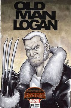 Old Man Logan X-men Sketch Cover Variant Comic by BigChrisGallery X Men, Wolverine Old Man Logan, Logan Laura, Comic Art, Comic Books, Man Sketch, Sketch Markers, Marvel Comics, Sketches