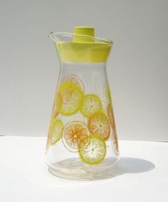 Vintage Glass Carafe Retro Pyrex Citrus by TheVintageResource, $14.00