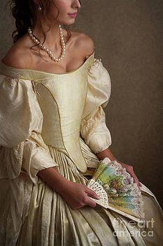Wall Art - Photograph - Georgian Period Woman Seated by Lee Avison , 1700s Dresses, Victorian Era Dresses, Old Dresses, Victorian Fashion, Pretty Dresses, Beautiful Dresses, Fairytale Fashion, Fairytale Dress, Fantasy Gowns