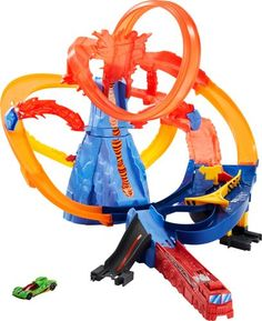 Hot Wheels City Volcano Escape Connectable Play Set with Diecast and Mini Toy Car Nintendo Mario Kart, Disney Pixar Cars, Toys Uk, Kids Toys, Circuit Carrera Go, Toy Car Racing, Volcan Eruption, Lava, Erupting Volcano