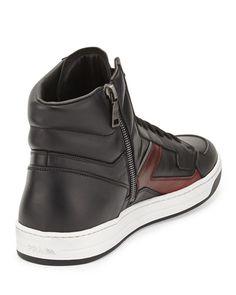 Prada High-Top Zi-Side Sneaker