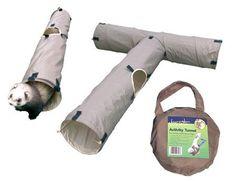 Boredom Breakers Ferret Activity Tunnel Beige Pets Small Animals Activity 5025659193533