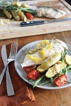 One-Pay Meyer Lemon Chicken + Veggies