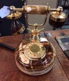 Vintage phone Vintage Phones, Landline Phone, Coffee Maker, Kitchen Appliances, Technology, Home Exterior Design, Coffee Maker Machine, Diy Kitchen Appliances, Tech