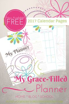 FREE 2017 Calendar Pages 1 page and 2 page layouts!