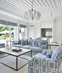 Blue And White Living Room components can add a touch of favor and design to any residence. Blue And White Living Room can mean many issues to many people… Coastal Living Rooms, Home Living Room, Living Room Designs, Living Room Furniture, Living Room Decor, White Furniture, Hamptons Living Room, Rustic Furniture, Furniture Ideas