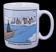 "Gary Larson's Far Side  ""Ralph Harrison"" Coffee Mug  1990"