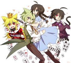 Mogeko Castle -Yonaka, Defect Mogeko, Moge-ko, & Shinya as alice in wonderland Rpg Maker, Maker Game, Scream, Creepy Games, Chibi, Alice Mare, Mad Father, Fanart, Rpg Horror Games