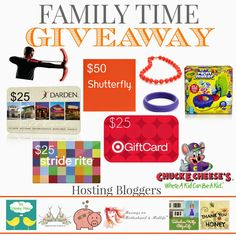 Family Time Giveaway!  Winner takes all! — Thank You Honey Ends November 20, 2014