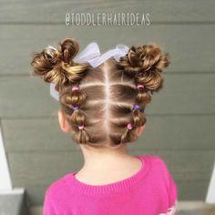 Fancy Hairstyles For Girls Easy Toddler Hairstyles, Easy Little Girl Hairstyles, Girls Hairdos, Baby Girl Hairstyles, Fancy Hairstyles, Wedding Hairstyles, Short Thin Hair, Short Hair Styles, Latest Hairstyle For Girl