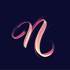 A Daily Source For Logo Design Inspiration Typography Letters, Typography Logo, Graphic Design Typography, Lettering Design, N Letter Design, Alphabet Design, Alphabet Wallpaper, Name Wallpaper, N Logo Design
