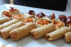 Spring rolls canapes
