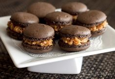 Samoa Macarons by @Barbara Bakes {Barbara Schieving}