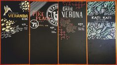 Some of the boards I chalked for Starbucks when I was a barista! @Starbucks Loves