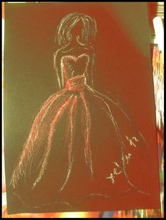 Black paper and pastel