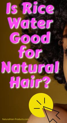 Is Rice Water Good for Natural Hair? ...in the past, you may have only thought about rice as food, it's actually a lot more though. It's also a great hair growth, skin and beauty product.  Rice water for hair is very popular in China and Japan as a growth, health and strengthening aid, it's been a staple for hundreds of years.  It has been known to help women grow up to 7 feet of hair. CLICK TO SEE!