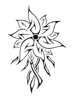 22 Amazing Tribal Flower Tattoos | Only Tribal