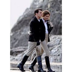 The polo project Sunday Inspo.  Jonathan Rhys-Meyers and Natalia Vodianova filming on location for 'Belle du Seigneur', Camogli, Italy. (Photo by Jacopo Raule) #Thepoloproject  #inspiration #TPP #equestrian #style #love #fashion #cinema #riders #nataliavodianova #JonathanRhy-Meyers #horse #pony