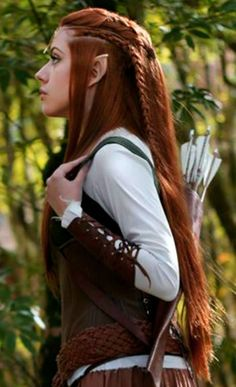Beautiful Elven Archer Hairstyle... simply glorious!